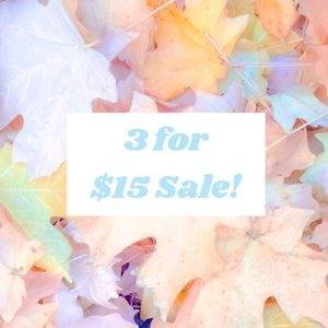♥️3 for $15 Sale!♥️